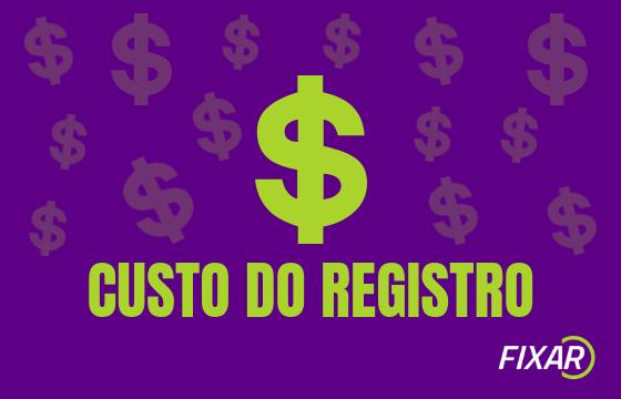 custo do registro